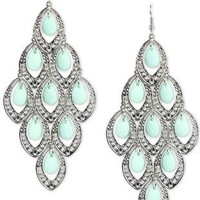 hanging teardrop bead earrings - debshops.com