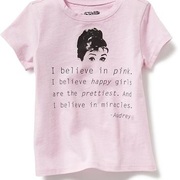 """Old Navy """"I Believe In Pink"""" Graphic Tee For Baby"""