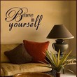 BELIEVE IN YOURSELF Vinyl Wall Art Decal Quote by decorexpressions