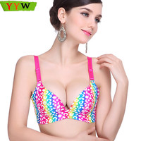 [YYW] Women Bra 32-38 A-C cup Underwear For Women Sexy Push Up Bra Hot Women Lingerie Rainbow Fashion Plus Size Bralette