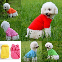 Pet Dog Cat Puppy Polo T-Shirts Suit Clothes Outfit Apparel Coats Tops Clothing Size XS S M L XL = 1930076868