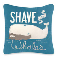 Threadless Shave the Whales Toss Pillow
