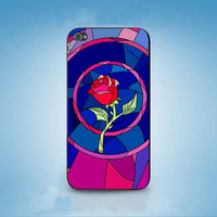 Beauty and Beast rose glass customized for iphone 4/4s/5/5s/5c ,samsung galaxy s3/s4/s5 and ipod 4/5 cases
