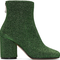 Green Metallic Ankle Boots