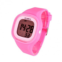 New Fashion Unisex Waterproof Silicone Candy Color Square LED Digital Casual Sports Wrist Watch