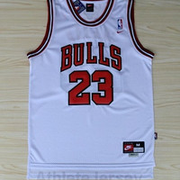 Michael Jordan NBA Chicago Bulls Jersey #23 Michael Jordan Jersey White Stitched NBA Basketball