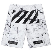 Off White Summer 16 Marbelized Shorts