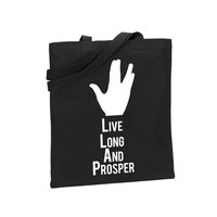 Spock Live Long And Prosper Tote Star Trek Accessory Bag Purse Clutch Space Geek Startrek Picard Kirk