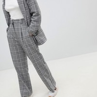 Weekday Wide Leg Check Trouser at asos.com