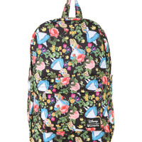 Disney Alice In Wonderland Floral Backpack