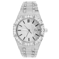 Solitaire Bezel Bling Stainless Steel Exclusive Designer Watch