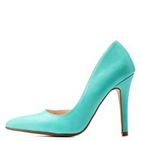 Aqua Pointed Toe D'Orsay Pumps by Charlotte Russe