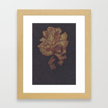 Skull Bloom Framed Art Print by drawingsbylam