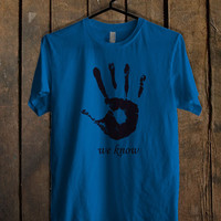 Skyrim Dark Brotherhood We Know Blue Mens T Shirt **
