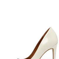 Steve Madden Proto White Leather Pointed Pumps