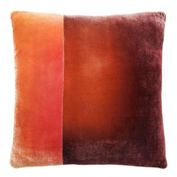 Wildberry Velvet Color Block Pillow by Kevin O'Brien Studio