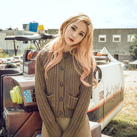 Ribbed Knit Cropped Cardigan - I know you wanna kiss me. Thank you for visiting CHUU.