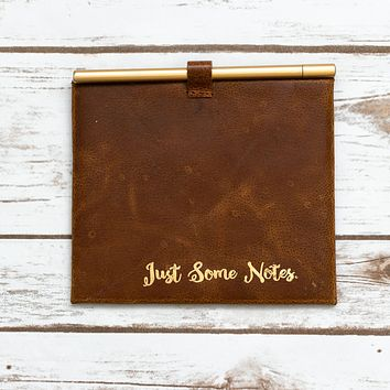 """""""Just Some Note"""" Leather Envelop and Cards"""