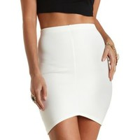Curved Hem Bodycon Pencil Skirt by Charlotte Russe