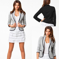 Women OL Business Blazer Suit Long Sleeve Casual Tops Slim Jacket Coat Outwear 02-012