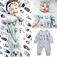 Newborn Infant Baby Boys Girl Romper