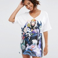ASOS Disney Villains Sleep Tee at asos.com