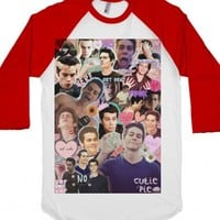 Dylan O'Brien Collage-Unisex White/Red T-Shirt