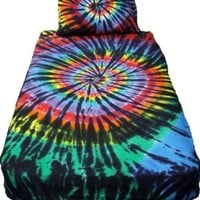 Stained Glass Spiral Tie Dye Sheet Set - Queen:Amazon:Home & Kitchen