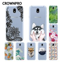CROWNPRO Soft TPU FOR Funda Samsung Galaxy J3 2017 Case Cover Silicone Phone Back Protective FOR Coque Samsung J3 2017 Case