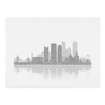 Restudio Designs Boston Skyline Reflection Art Print