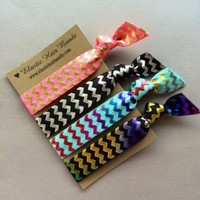 The Madison Elastic Hair Tie Ponytail Holder Collection by Elastic Hair Bandz