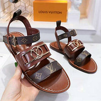 Louis Vuitton Slipper Sandals Flats Shoes LV Sandals