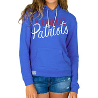 New England Patriots Junk Food Women's Sunday Pullover Hoodie – Royal Blue