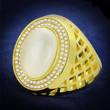 Gold Ring For Men TS244 Gold 925 Sterling Silver Ring with Synthetic