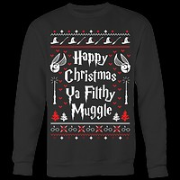 Harry Potter- Happy christmas ya filthy muggle -Unisex Sweatshirt - TL01512SW