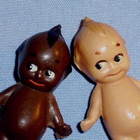 1913 Rose O'Neill Celluloid Kewpie and Hot 'nTot Doll