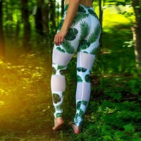 2017   Women Sports Yoga Workout Gym Fitness Printed Leggings Pants Athletic Clothes Youthful Own Store