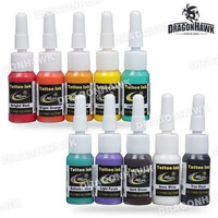 High-Quality Tattoo Supplies 10 Color inks 5ml/Bottle Complete Set Supply Tattoo ink