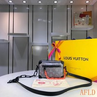 HCXX 19Aug 1120 Louis Vuitton LV Pop 3D Print Box Bag Fashion Crossbody Quilted Bag 18.5-13-8CM