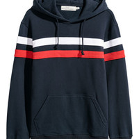 Color-block Hooded Sweatshirt - from H&M