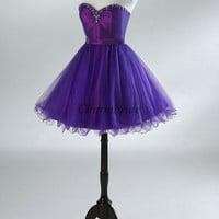 new designed christmas dresses with rhinestones short sweetheart beaded gowns for prom cheap tulle satin party dress hot