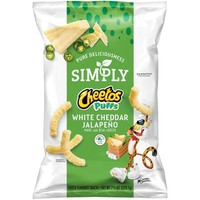 Cheetos Simply Puffs White Cheddar Jalapeno, 7.75 oz. Bag - Walmart.com