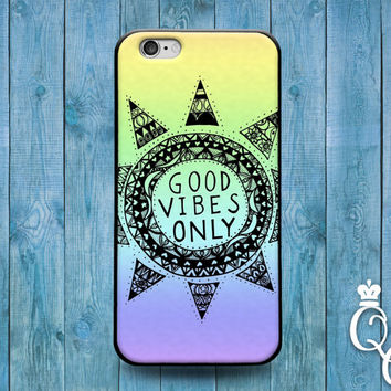 iPhone 4 4s 5 5s 5c 6 6s plus + iPod Touch 4th 5th 6th Generation Custom Phone Case Cute Good Vibes Only Quote Ombre Colorful Fun Sun Cover
