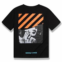 Off White Women Men Fashion Casual Shirt Top Tee-10