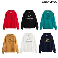 BALENCIAGA Men Women Fashion Hooded Top Pullover Sweatshirt Hoodie