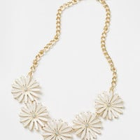 Gracie Cream Floral Statement Necklace