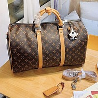 Louis Vuitton LV New Fashionable Women Men Leather Luggage Travel Bags Tote Handbag