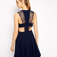 BCBGeneration Skater Dress with Lace Detail