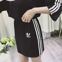 Adidas Pullover Top Three Stripe Skirt Two pieces