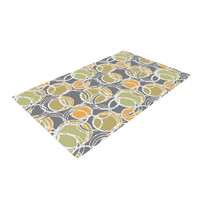 """Julia Grifol """"Simple Circles in Grey"""" Woven Area Rug"""